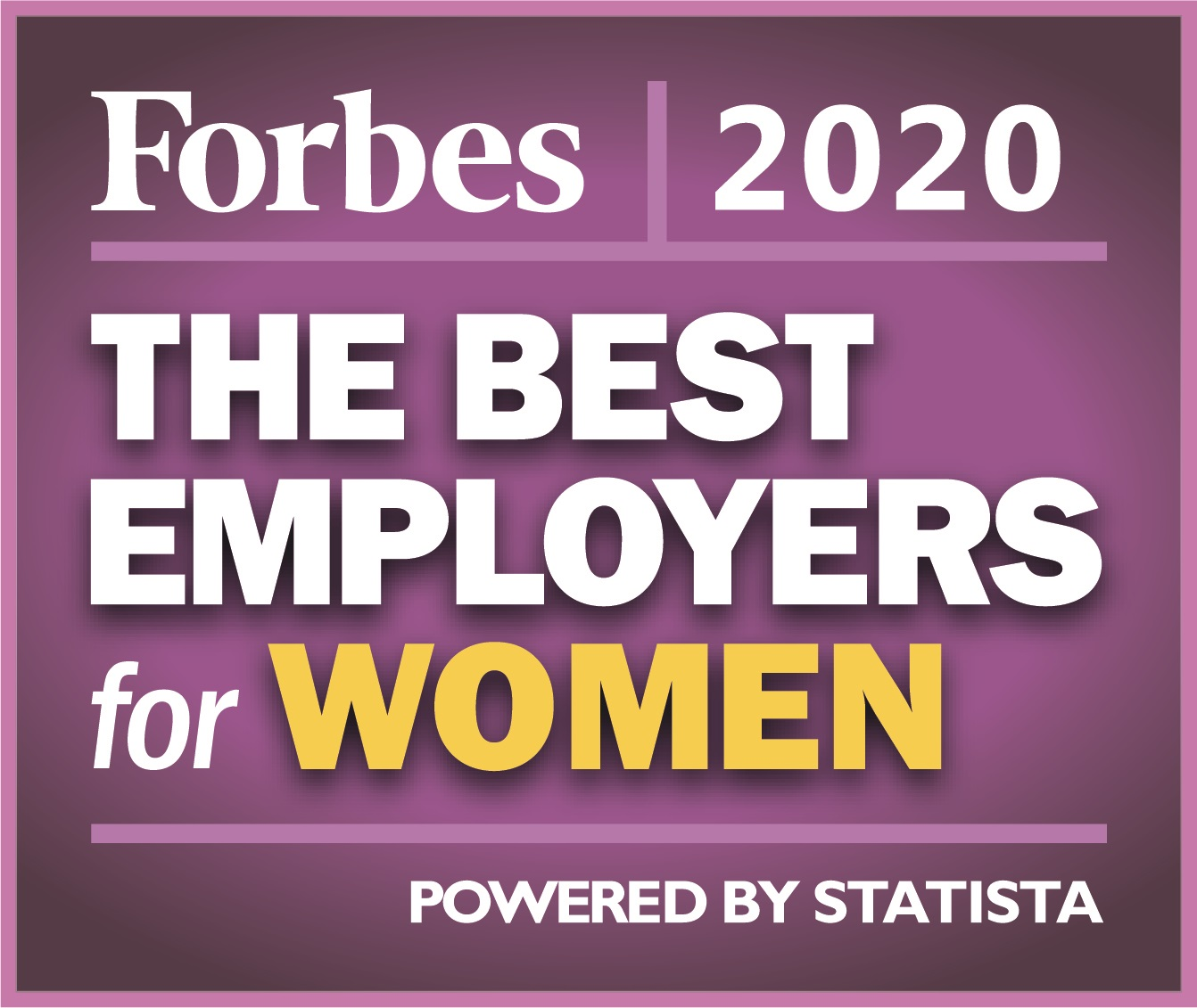 Forbes 2020 Best Employers for Women logo