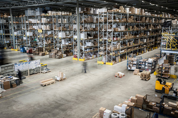 the interior of a warehouse