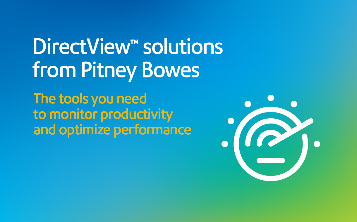 DirectView™ mailing inserter solutions | Pitney Bowes