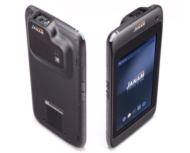 Handheld scanner front and back view