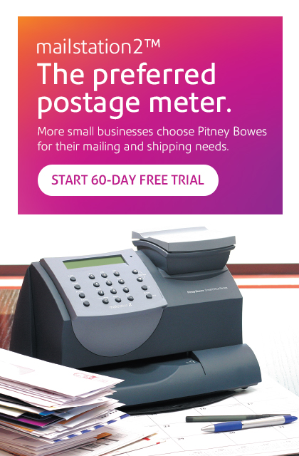 The preferred postage meter.