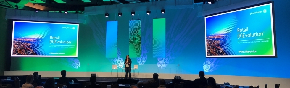 Lila Snyder delivers closing remarks at the Pitney Bowes Retail (R)Evolution