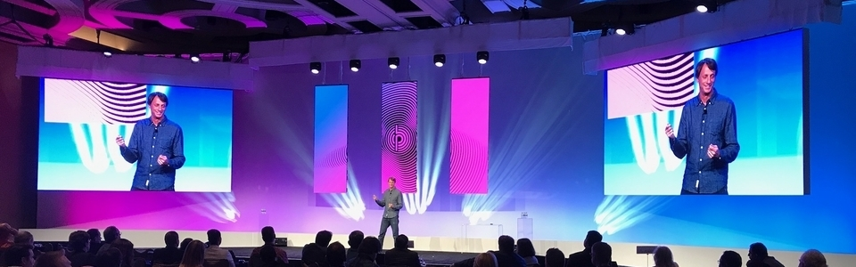 Tony Hawk presents at Pitney Bowes Retail (R)Evolution
