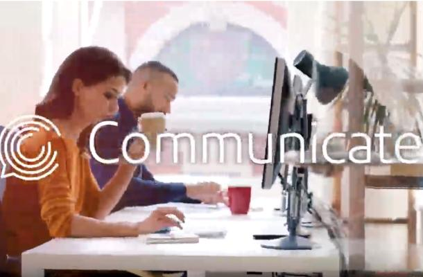 still of video people at computers