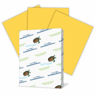 Goldenrod Hammermill Fore Multi Purpose Paper - 8.5x11