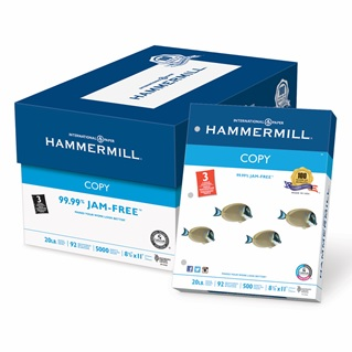 Hammermill Copy Paper - 3 Hole Punched - 8.5x11