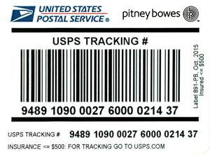 USPS IMpb Compliant Signature Confirmation Labels - Insurance less than $500 50 labelspack