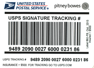 USPS IM®pb Compliant Signature Confirmation Labels –Insurance more than $500 (50 labels/pack)