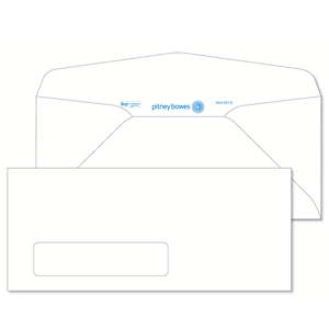 Pitney Bowes® Envelopes #10 Gummed White Window 24lb