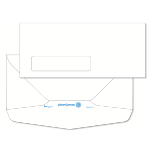 Pitney Bowes® Envelopes #10 Gummed White Window 24lb - Bottom Flap