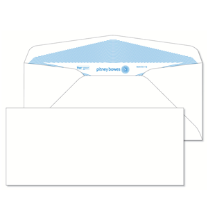Pitney Bowes® Envelopes #10 Gummed White 24lb Security Tint