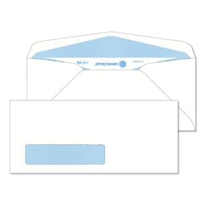 Pitney Bowes® Envelopes #9 Gummed White Window 24lb Security Tint