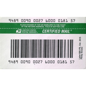 USPS IM®pb Compliant E-Certified Barcode Labels (2,000 labels/Roll)