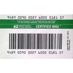 USPS IMpb Compliant E-Certified Barcode Labels (50 labels/pack)