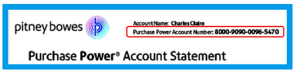 Purchase Power 16-digit number