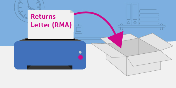 step to print RMA letter for return