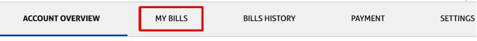 my bills tab
