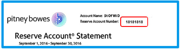 Reserve Account PBP 8-digit number