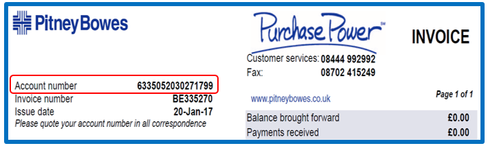 Purchase Power account number