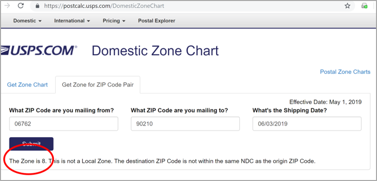 Finding Your Postal Zone Using Zip Codes And The Usps Zone Charts